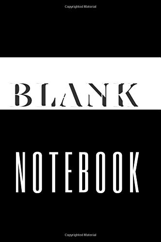 BLANK NOTEBOOK: Sketchbook for Drawing and Writing (110 Pages,  6 x 9) Classic journal diary, perfect for gift, to school, home. Jollin Holst