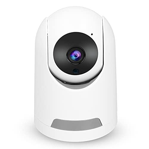Cámara de Seguridad para el hogar Cámara Interior de Seguridad con Giro/inclinación de 3 MP Cámara IP WiFi Cámara inalámbrica con Audio bidireccional para bebé,Mascota y Monitor de niñera(Blanco)