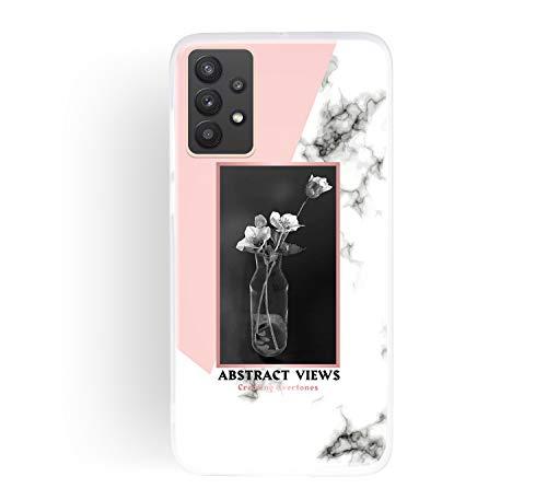 ChoosEU Compatible con Funda Samsung Galaxy A52 5G Silicona Dibujos Mármol Creativa Carcasas para Chicas Mujer Hombres, TPU Case Antigolpes Bumper Cover Caso Protección - Jarrón