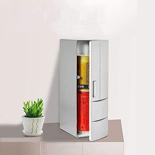 Taotuo Mini refrigerador - Refrigerador USB pequeño Coke Refrigerador, cerveza helada, enfriador de botellas electrónico, mini refrigerador portátil de la taza rápida del coche