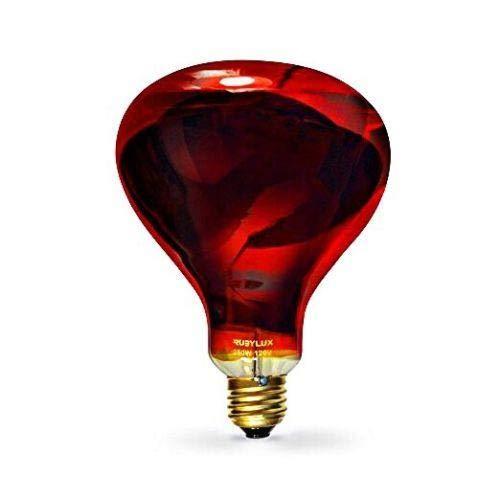RubyLux NIR-A Near Infrared Bulb - Grade B 120V for US & Canada, 2 Pack