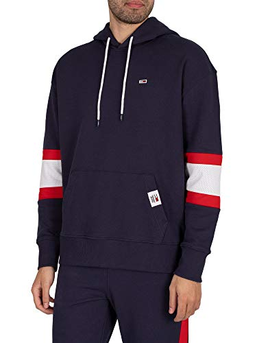 Tommy Hilfiger Jeans Sudadera estilo Rugby con capucha (XS)