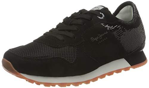 Pepe Jeans London Verona W Full Sequins Zapatillas para Mujer , Negro ( 999BLACK ) , 40 EU