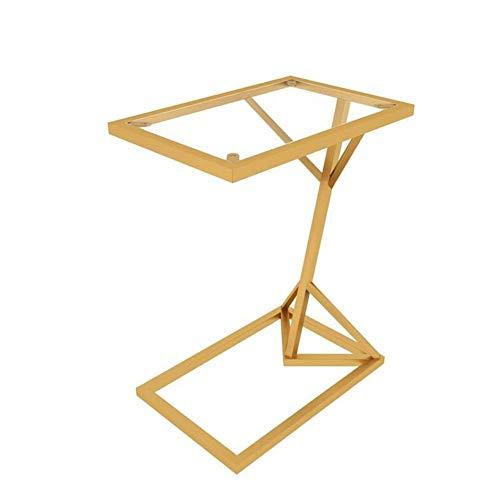 Einfache und Praktische Einfache Idee Laptop-Ständer für Schreibtisch Multifunktionsempfangsraum Couchtisch Frühstückstablett, Eisenkunst, 2 Spezifikationen, Gold, a, WAJ