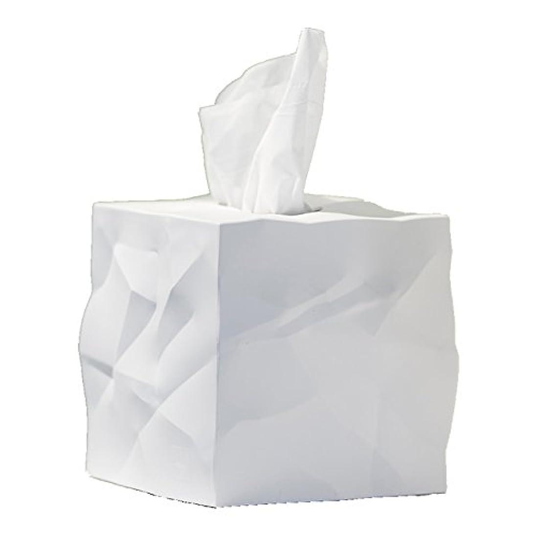 散逸葉を集めるトラブルessey Wipy Cube ティッシュボックスカバー (ホワイト)