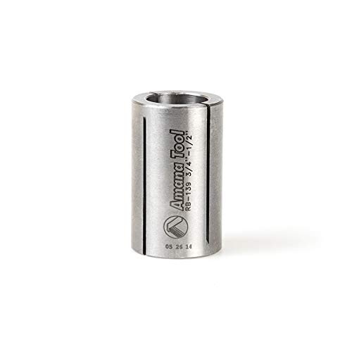 Amana Tool - RB-139 High Precision Steel Router Collet Reducer 3/4 Overall Dia x 1/2 Inner