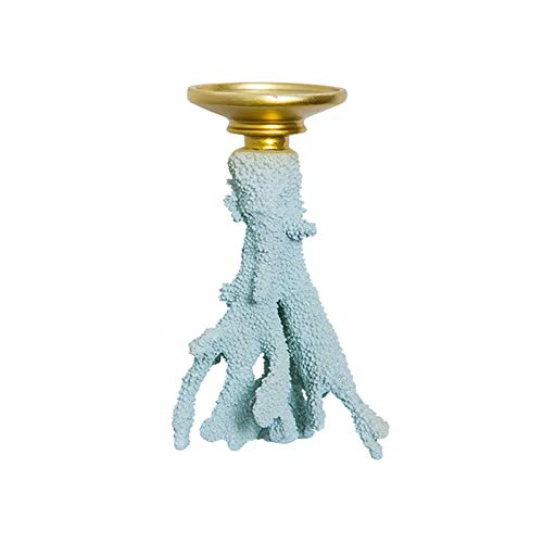 xiaodou Candle Holder Creative Romantic Coral Candle Holder, Resin Candlesticks, Home Table Living Room Candle Stand Decorations Pillar Candle Holder (Size : Small)