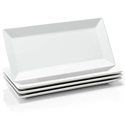 rectangle serving plates
