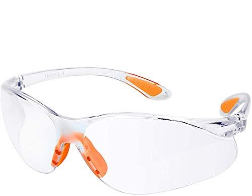 occhiali antinfortunistica 12 Pezzi Occhiali Protettivi da Lavoro Occhiali Antinfortunistica Trasparenti Antiappannamento Antigraffio Occhiali di sicurezza con Nasello Antiscivolo