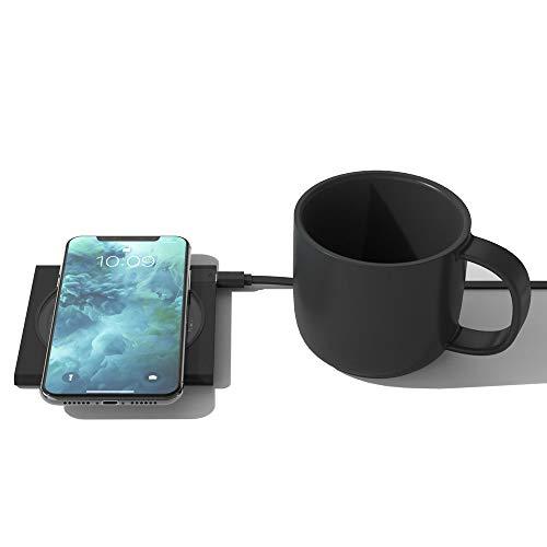 NoNo Elektrische pad desktop constante temperatuur 2 in 1 draadloze oplader drankverwarmer automatisch scheiden energiebesparende verwarming Coaster gemakkelijk te dragen
