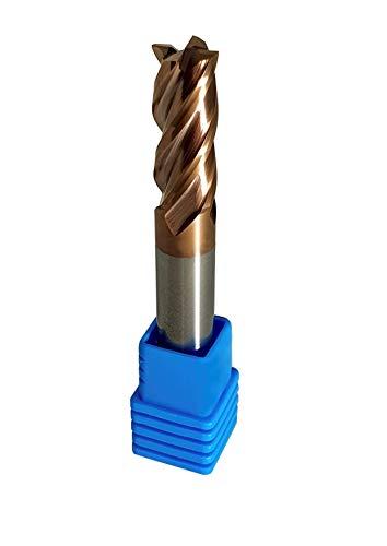 Fräser Schaftfräser Hartmetall VHM TiSiN beschichtet 55 HRC 4 Schneiden, bohren, fräsen, schlichten, eintauchen, CNC, Wolframkarbid (4mm)