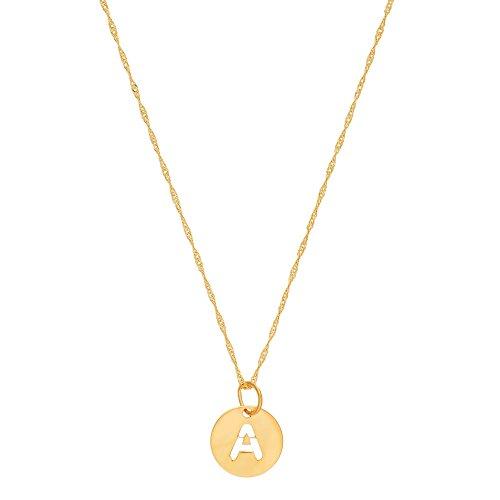 Córdoba Jewels | Gargantilla en Plata de Ley 925 bañada en Oro con diseño Inicial A