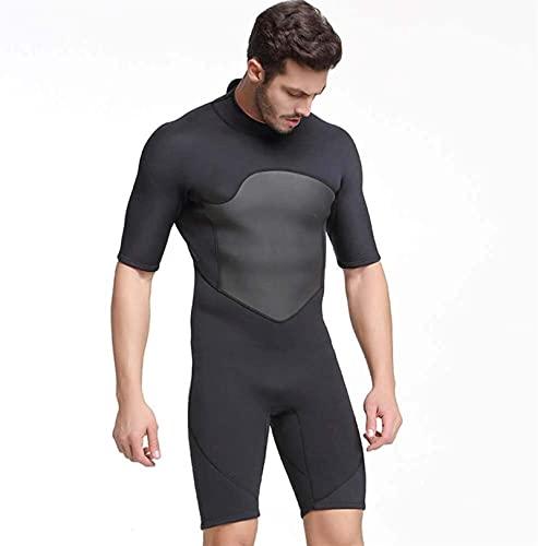 Herren Tauchanzüge, Shorty Neoprenanzug Kurzarm Tauchanzug Sonne Schutz Needuits zum Tauchen, Schnorcheln, Surfen, Schwimmen (Color : B, Size : M)