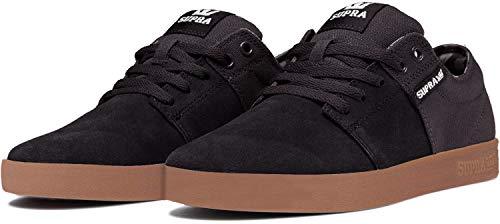 Supra Stacks II, Zapatillas de Skateboard Unisex Adulto, Negro (Black-Gum-M 55), 40.5 EU