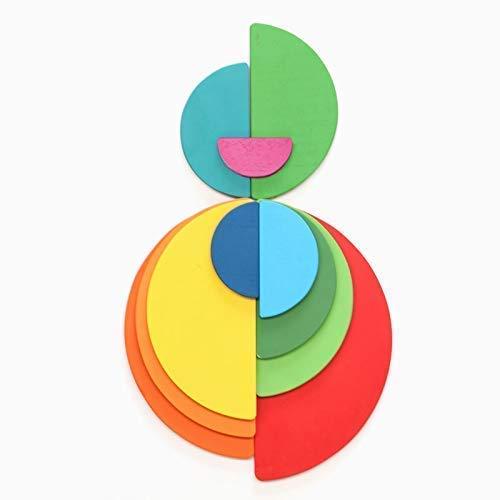 Semicírculos planos de colores