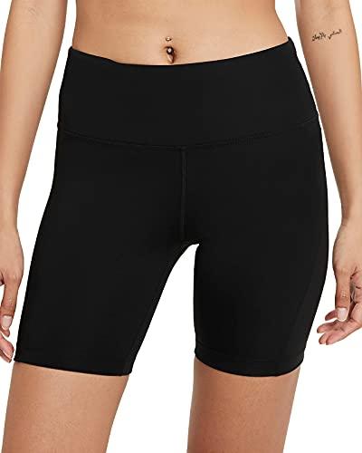 Nike - Pantaloncini da Donna Nero/Argento Lucido L