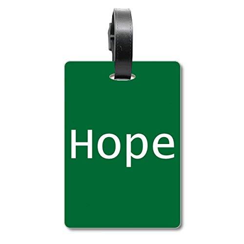 Etiqueta de identificación para Maleta con Frase inspiradora en inglés «Hope Word»