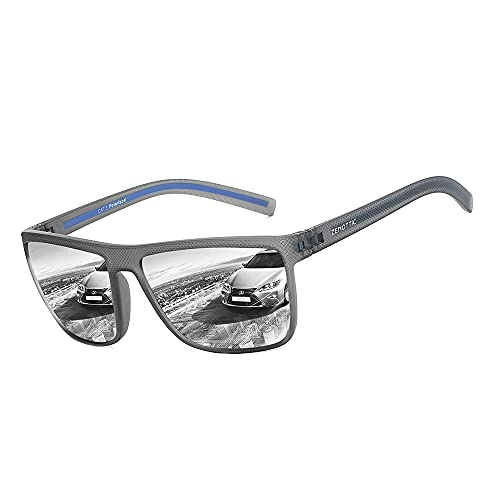 occhiali da sole bifocali ZENOTTIC Occhiali Da Sole Polarizzati per Uomo Quadrata TR90 Montatura Protezione UV400 Super Leggero
