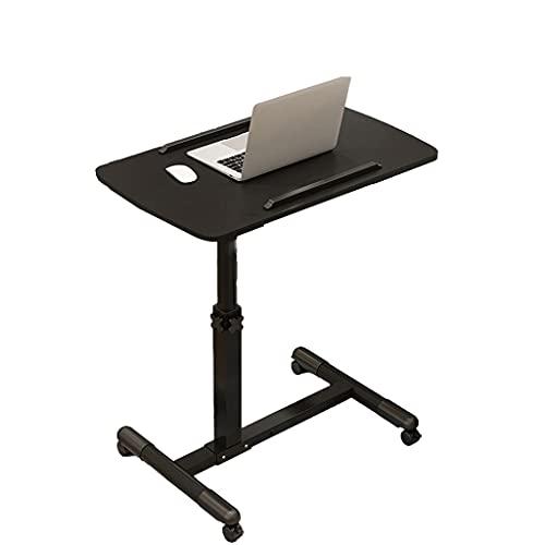 Mesita de noche ajustable para ordenador portátil, mesa de noche ajustable, portátil, inclinable para sentarse con soporte móvil + mesa inclinable para el hospital y el hogar bandeja de comida