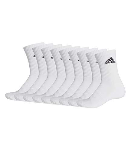 adidas 9 Paar Performance CUSHIONED CREW 3p Tennissocken Sportspocken Unisex, Farbe:White, Socken & Strümpfe:46-48