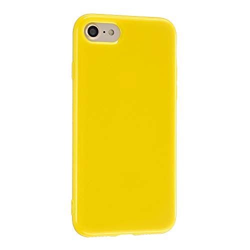 CrazyLemon Hülle für iPhone 6 iPhone 6S, Niedlich Volltonfarbe Gelee Design Weich TPU Gel Silikon Slim Dünn Handyhülle Stoßfest Schutzhülle - Gelb