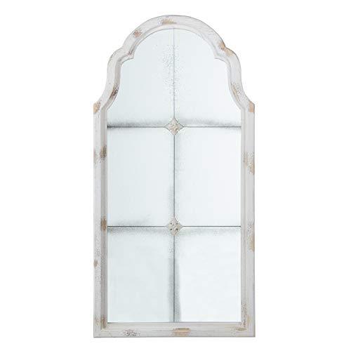 Espejo Ventana rozado Blanco de Madera de Abeto de 60x120 cm