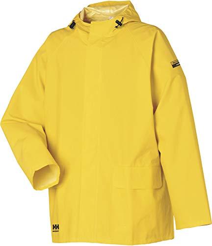 Helly Hansen 70129 - Giacca impermeabile in PVC, 100% impermeabile, Uomo, Giacca Mandal Taglia S in giallo chiaro, 70129_310-S, giallo chiaro, S