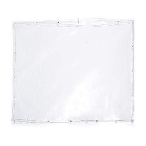 WAJIEFD Lona Impermeable Espesar Vidrio Blando de PVC Cubierta de Lona Vegetal Cortina de Lluvia para Balcón, 50 Tamaños (Color : Clear-0.3MM, Size : 3.0X4.0M)