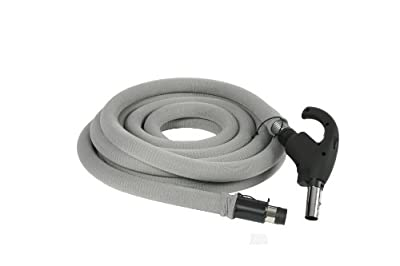 Cen-Tec Systems 99713 Central Vacuum 35 Foot Universal Connect Low Voltage Hose with Hose Sock and Button Lock Stub Tube