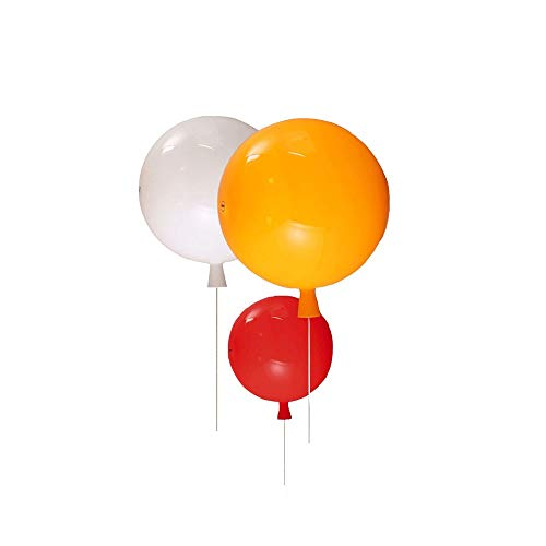 GYZLZZB Wall Lamp Colorful Balloon Wall Lamp Creative Children's Room Aisle Modern Bedroom Bedside LED Wall Light for House,villa,Bar,Restaurants (Color : White, Size : S)