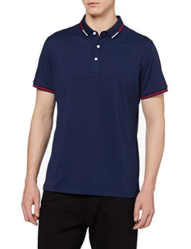 HIKARO Amazon Brand Herren Business Polo Shirts Kurzarm Tee Top Atmungsaktiv Casual Work Sports Golf Polo T-Shirts für Männer Purplish Blue XL