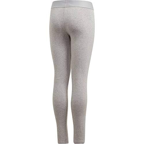 adidas - Fitness-Hosen für Mädchen in Medium Grey Heather/Real Pink, Größe 152