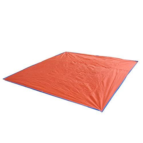 ROIY Camel Outdoor Camping Oxford Stoffmatte Feuchtigkeitsmatte Picknickmatte Schmutzige Und Verschleißfeste Bodenmatte Orange 150 * 150cm (Color : Orange, Größe : 215 * 215CM)