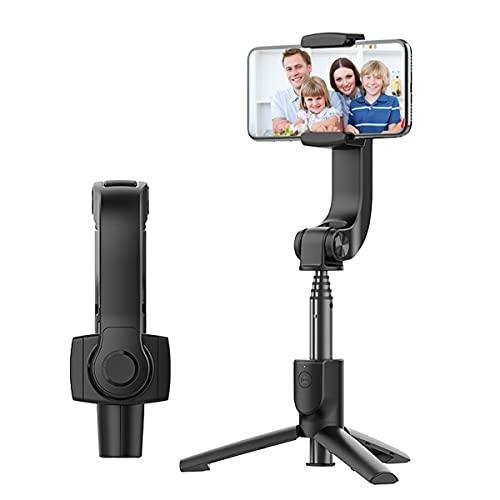 Apokin® Smartphone Palo Selfie Estabilizador Gimbal de Ejes, 3 en 1 Bluetooth Móvil Palo Selfie Trípode con Mando a Distancia, para GoPro y iPhone 12 , 12 Pro, 12 Pro Max, Samsung S20, S21, Xiaomi...