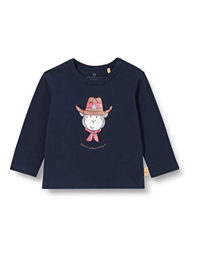 Bellybutton mother nature & me Baby-Jungen Langarmshirt T-Shirt, Navy Blazer|Blue, 92
