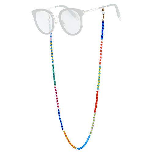 KANYEE Collar de cadena con cuentas de letras de colores, collar de goma, estilo bohemio, étnico, tribal, artesanía, regalo para mujer