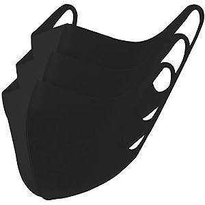 冷感マスク 3枚セット (ブラック, Lサイズ3枚組)