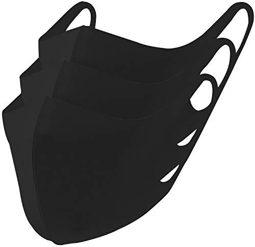 冷感マスク 3枚セット (ブラック, Sサイズ3枚組)