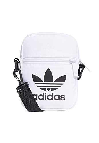 adidas Unisex-Adult Fest Tref Luggage- Messenger Bag, White, NS