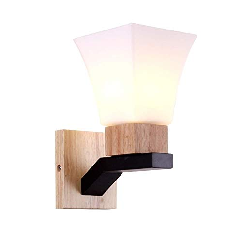 NANYUN verlichting wandlamp creatief eenvoudig massief hout woonkamer TV kast slaapkamer nachtwandlamp Japanse stijl houten Aisle LED-wandlamp