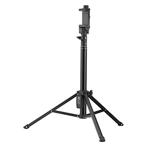 Trípode Selfie Stick, aleación de aluminio 36-132cm Trípode telescópico Soporte portátil Selfie Stick 1/4 pulgada Soporte, con control remoto inalámbrico y clip para teléfono de 6 cm-10,5 cm, para tra