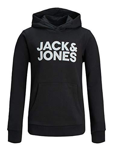 Jack & Jones Jjecorp Logo Sweat Hood Ss19 Noos Jr Sudadera con Capucha, Color Negro, 140 cm para Niños