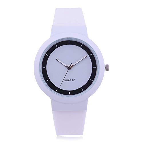 Fliyeong - Reloj de Pulsera para Mujer, Correa de Silicona, Esfera analógica, Cuarzo, Estilo Jalea, Elegante y Popular