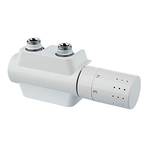 Simplex Design Ventilhahnblock VARIOCON Anschluss-Set - rechts (Messing vernickelt, Kunststoff, EPDM), F12013