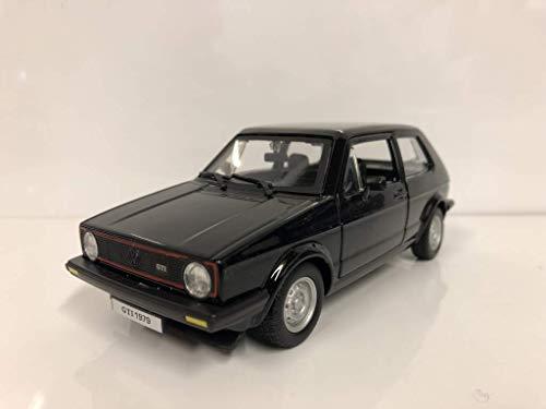 Bauer Spielwaren 18-21089 Bburago 1:24 Volkswagen Golf MK1 GTI (1979), Rot, schwarz