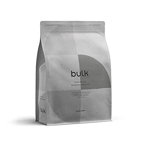Bulk Creatine Monohydrate Powder, Pure Unflavoured, 500 g, Packaging May Vary