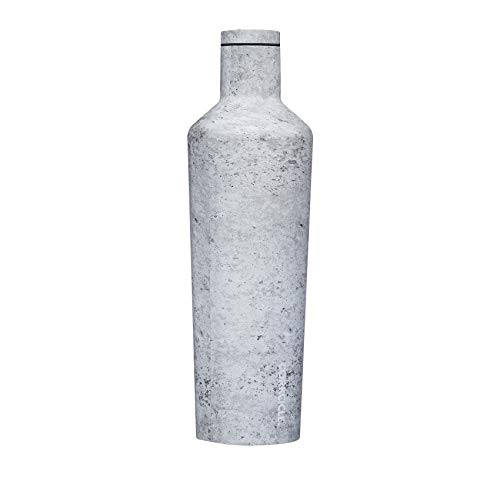 Corkcicle 25oz Canteen Classic Collection - Water Bottle & Thermos - Triple Insulated Shatterproof Stainless Steel, Concrete