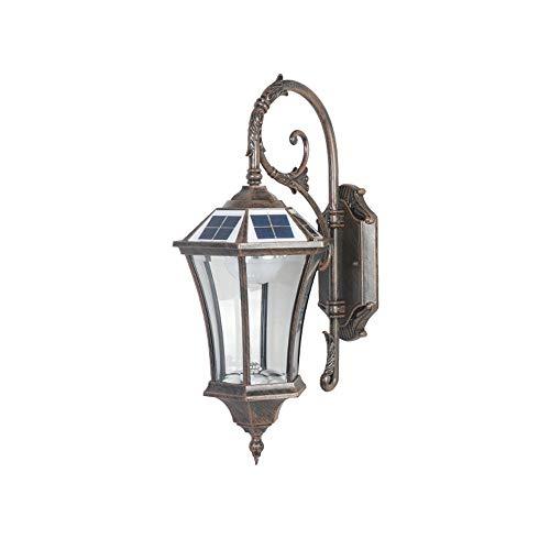 ZAKRLYB Lámpara de Pared Solar al Aire Libre Resistente a Alta Temperatura LED Balcón Corredor de iluminación Lámpara de Cama de Dormitorio Interior Adecuado para la Entrada de la Comunidad de Villas