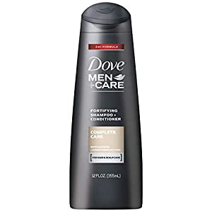 Dove Men+Care 2-in-1 Fortifying Shampoo + Conditioner, Complete Care, 12 Ounce (Pack of 2)