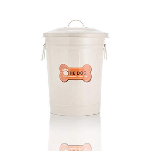 Futtertonne- Retro, 28 cm 9,5 Liter, Aufbewahrungsdose Metall Futterdose Hundefutter Vorratsdose …